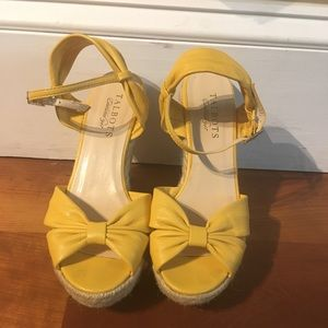 Yellow Talbots Sandal Wedge Heels